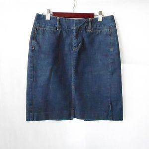 Size 4 Dark Wash GAP Denim Skirt